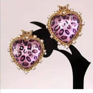 kiss and xox Heart Earrings